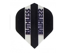 """Black Clear Panels"" Ruthless Darts Flights"