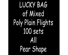 TDI Mixed Poly Plain Flights 100 sets all Pear shape