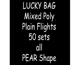 TDI Mixed Poly plain Flights 50 sets all Pear shape