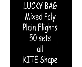 TDI Mixed Poly plain Flights 50  sets all Kite shape