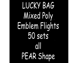 TDI Mixed Poly Emblem Flights 50 sets all Pear shape