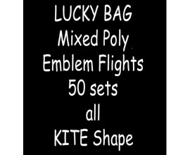 TDI Mixed Poly Emblem Flights 50  sets all Kite shape
